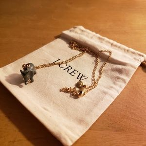J. Crew Elephant Pendant Necklace
